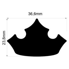 Furador Gigante Premium (E.V.A) Coroa Princesa Ref.20586-FEGAD08 Toke e Crie
