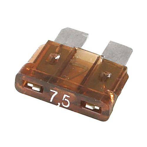 Fusível de Lamina Médio Automotivo 7,5 Amperes - Pacote com 10 Peças
