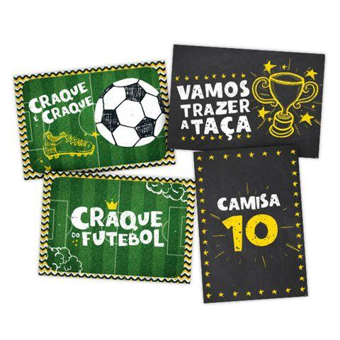 Futebol Cartaz Decorativo C/4 - Regina