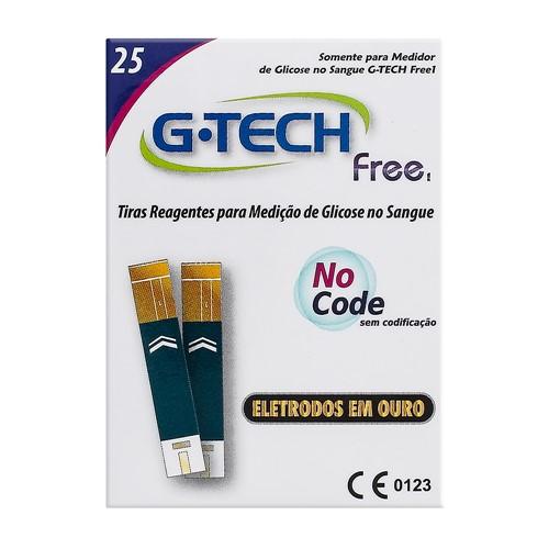 G-Tech Free 1 Tira Teste com 25 Unidades