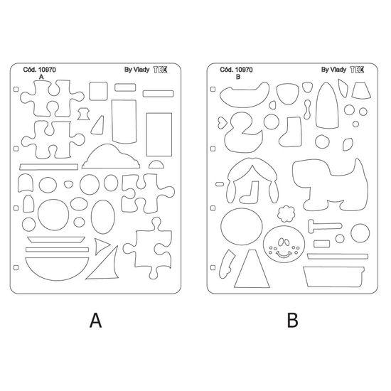 Gabarito de Marcação Toke e Crie GM025 Brinquedos