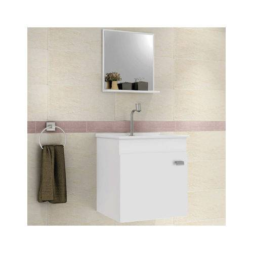Gabinete Armário para Banheiro Pop 400+Espelho+Pia