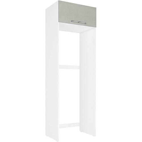 Gabinete de Geladeira Art In Móveis CZ705 1 Porta Basculante - Branco/Nude