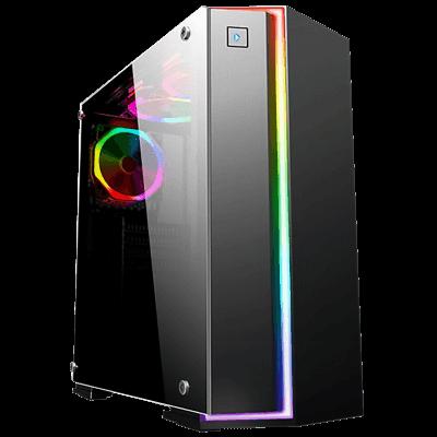 Gabinete Gamer K-Mex CG06RBPto Painel RGB Rainbow | InfoParts