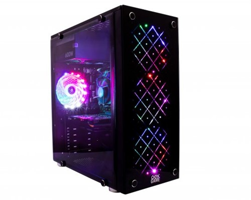 Gabinete GAMER OEX Vortex LED RGB com Janela de Vidro GH100