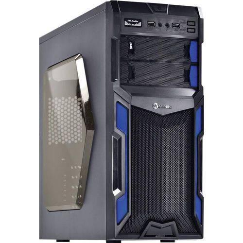 Gabinete Gamer Pc Preto e Azul