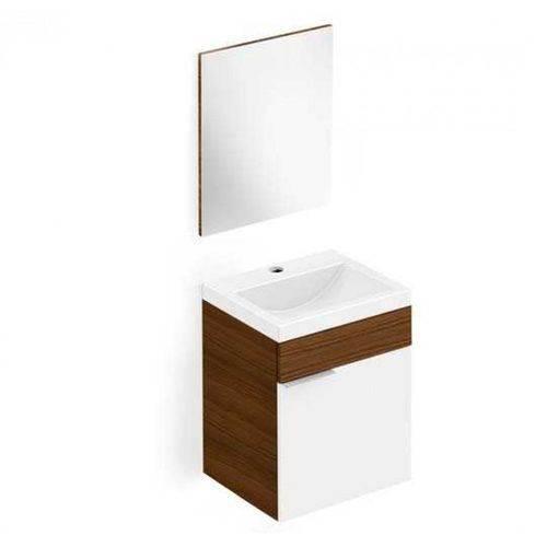 Gabinete Integrado Banheiro 41cm Kit Avant Wengue/bco Incepa