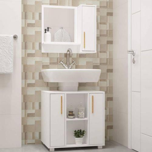 Gabinete para Banheiro 2 Portas Versa BRV Móveis Branco