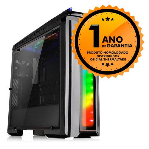 Gabinete Thermaltake TT Versa C22 RGB Black/SPCC/FULL WINDOW CA-1G9-00M1WN-00