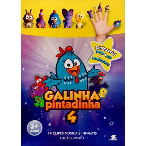 Galinha Pintadinha 4 Kit Especial DVD + CD + 5 Dedoches