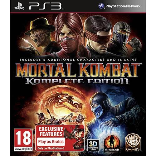 Game Mortal Kombat - Komplete Edition BR - PS3