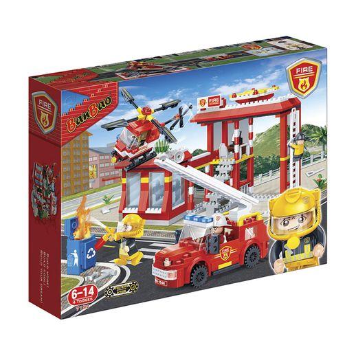 Garagem de Bombeiros 505 Peças - Banbao