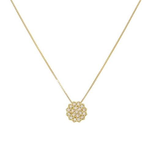 Gargantilha Flor com Diamantes Ouro 18k 750