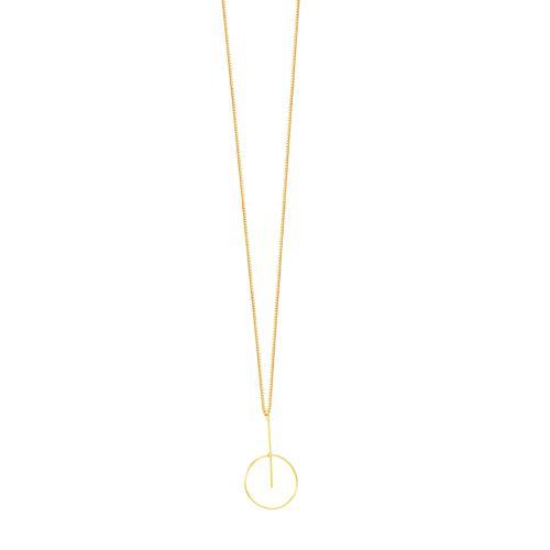 Gargantilha em Ouro 18K Círculo - AU5222