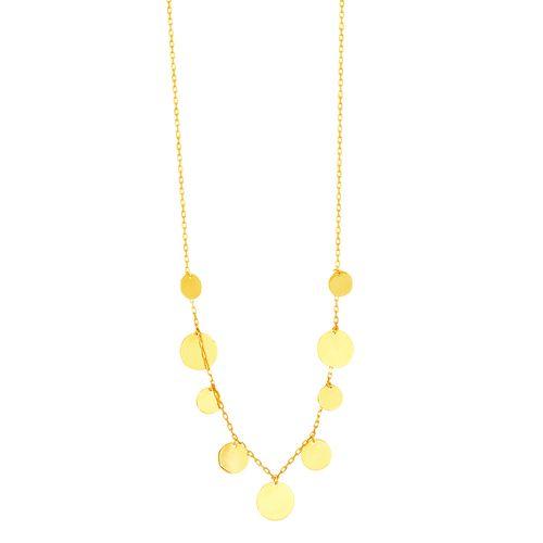 Gargantilha em Ouro 18K com Círculos - AU4917 - 45CM