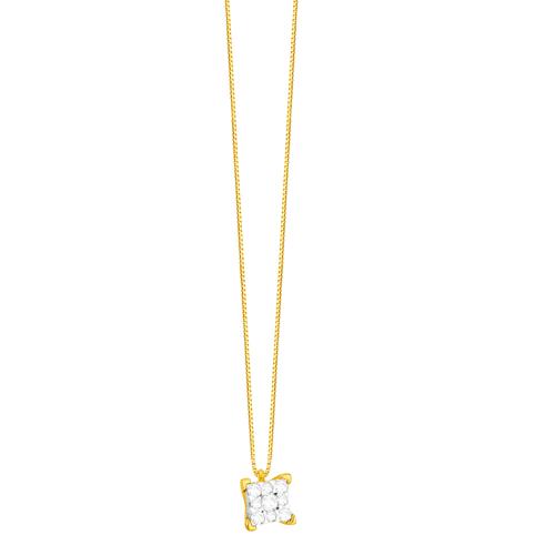 Gargantilha em Ouro 18K com Diamantes Full Cut - AU5671 - 45CM