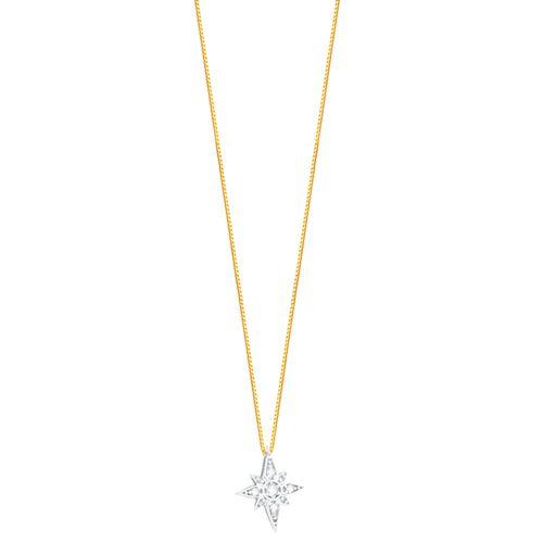 Gargantilha em Ouro 18K Estrela com Diamantes - AU4526 - 45CM