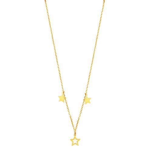 Gargantilha em Ouro 18K Estrelas - AU4931 - 40CM