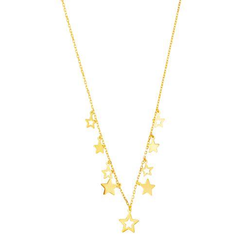 Gargantilha em Ouro 18K Estrelas - AU4913 - 45CM