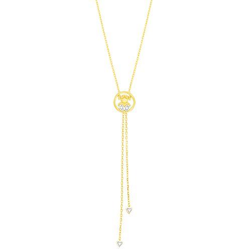 Gargantilha em Ouro 18K Filha com Diamantes - AU4877 - 45CM