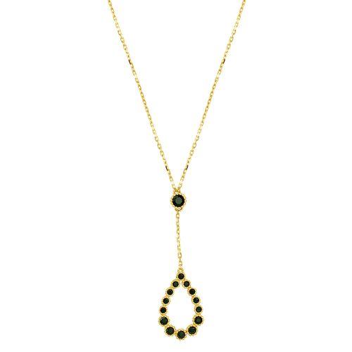 Gargantilha em Ouro 18K Gota com Espinélios - AU3432 - 45CM