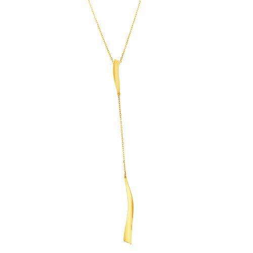 Gargantilha em Ouro 18K Gravata com Placas - AU4915 - 55CM