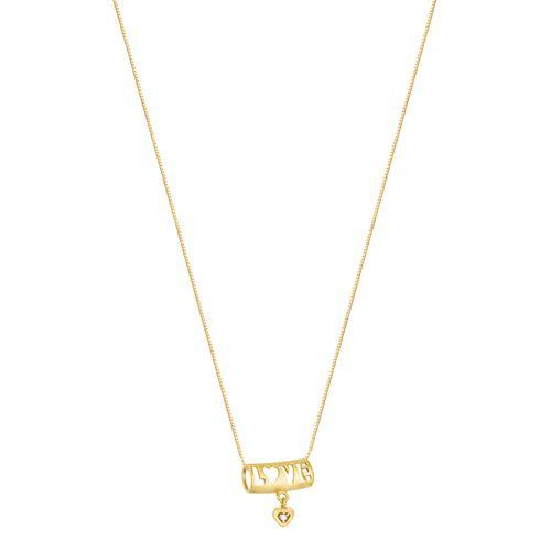 Gargantilha em Ouro 18K Love com Diamante - AU2281 - 45CM