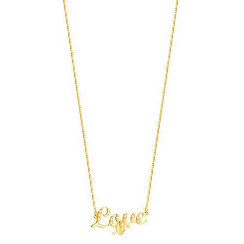 Gargantilha em Ouro 18K Love com Diamantes - AU4490 - 45CM