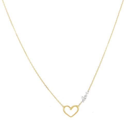 Gargantilha em Ouro 18K Love com Diamantes - AU3590 - 45CM
