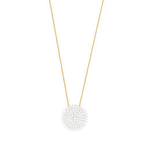 Gargantilha em Ouro 18K Pavê em Diamantes - AU5546 - Gargantilha em Ouro 18K Pavê em Diamantes