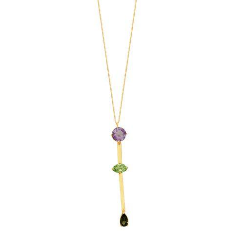 Gargantilha em Ouro 18K Pedras Brasileiras - AU6310