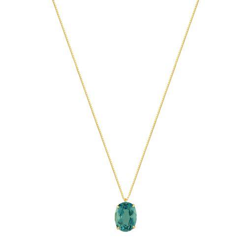 Gargantilha em Ouro 18K Topázio Blue - AU4168 - 45CM