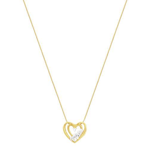 Gargantilha Ouro 18K Coração com Diamante - AU3715 - 45CM