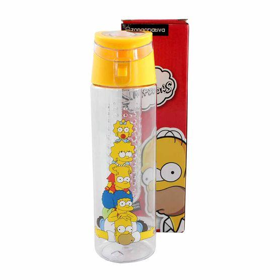Garrafa com Infusor os Simpsons 700 Ml Garrafa com Infusor os Simpsons 700 Ml