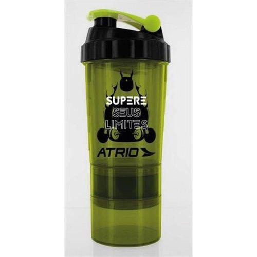 Garrafa Shaker 600ml Atrio Es062 Verde/Amarela - Multilaser