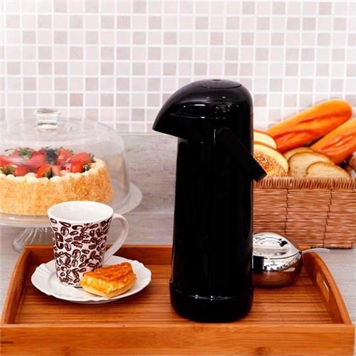 Garrafa Térmica 1 Litro Magic Pump Termolar Preta Preta