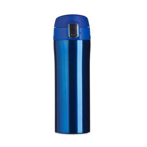 Garrafa Térmica 350 ML Aço Inox com Trava Vacuum Cup Azul