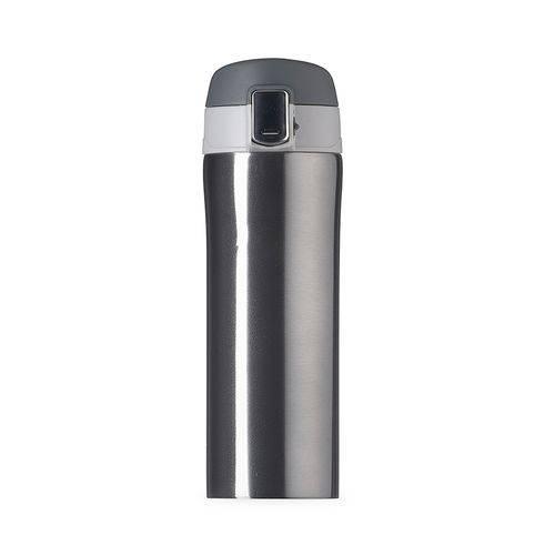 Garrafa Térmica 350 ML Aço Inox com Trava Vacuum Cup Cinza