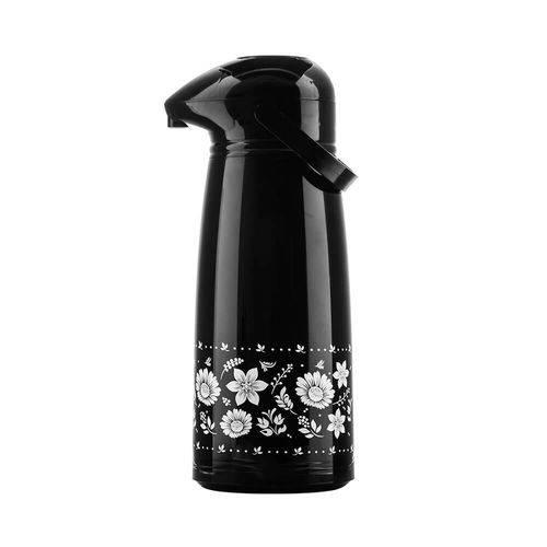 Garrafa Térmica Aladdin Pressão Suprema 1.80l Floral Preta