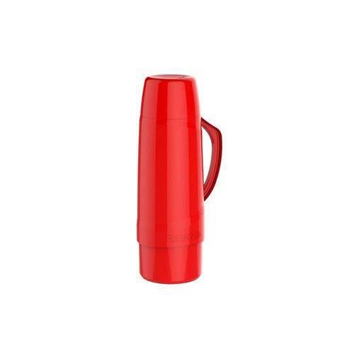 Garrafa Térmica Cristal 1L Vermelha Soprano