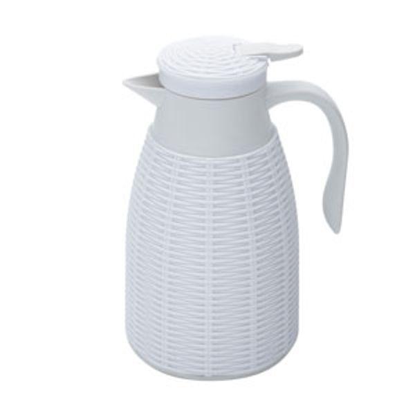 Garrafa Térmica de Rattan Branca 1L - 28457