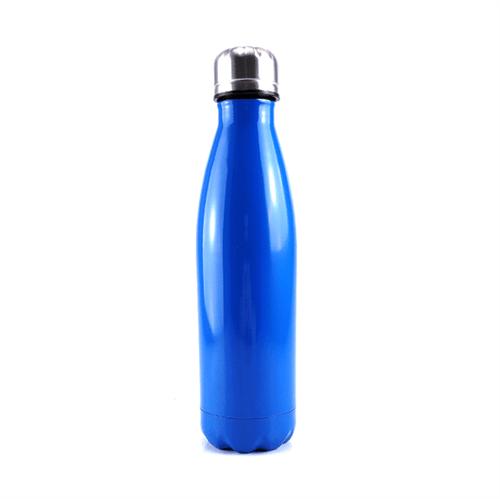 Garrafa Térmica em Aço Inox Azul com Parede Dupla - 500ml