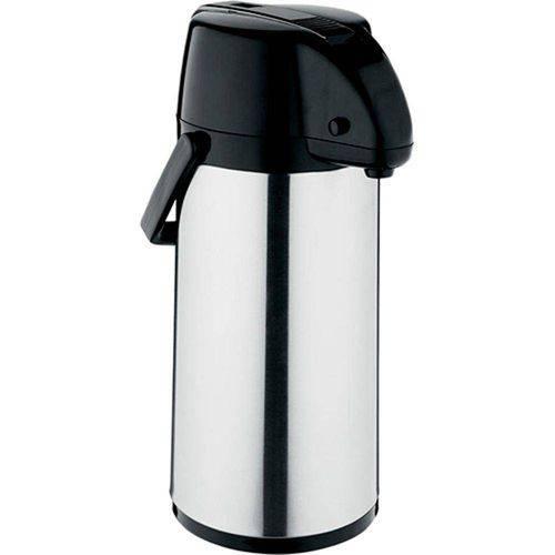 Garrafa Térmica Exclusiva 1,9 Litro Inox Preto