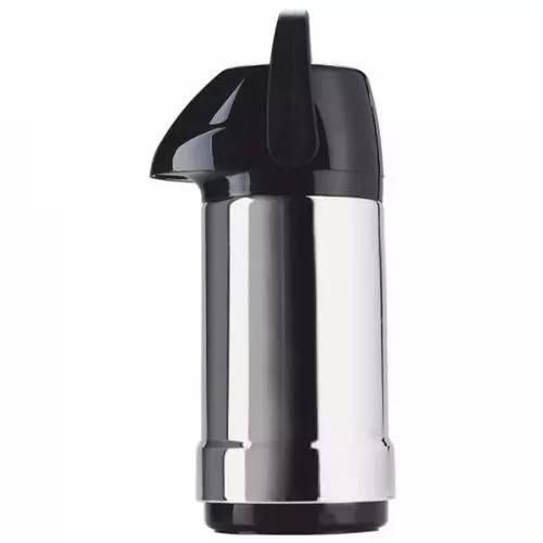 Garrafa Térmica Exclusiva 1 Litro Aço Inox Preto - Soprano