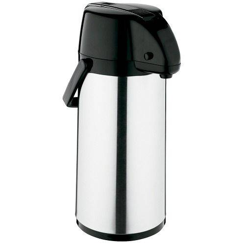 Garrafa Térmica Exclusiva 2,5l Inox/preto Café Escritório Soprano