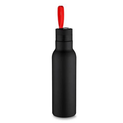 Garrafa Térmica Inox 500ml Parede Dupla Alça Vermelha