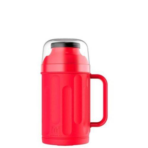 Garrafa Térmica Personal 500ml Vermelha Rosca Bico Termolar