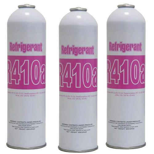 Gás Refrigerante R410 Lata 600g 3 Unidades