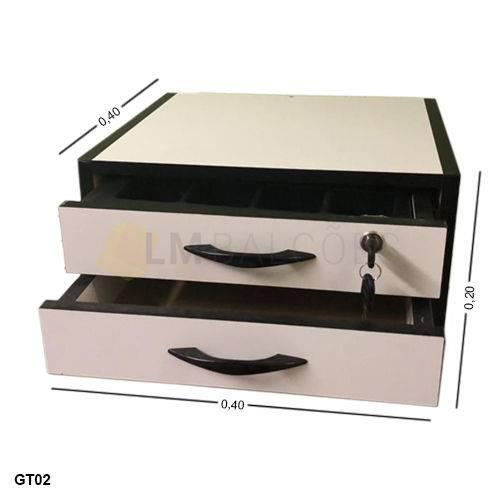 Gaveta Dinheiro Manual MDF - 0,40 X 0,20 X 0,40 com Divisor de Cedulas
