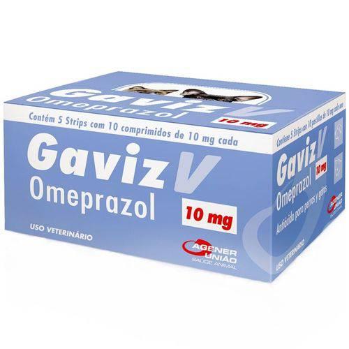 Gaviz V 10mg Omeprazol Cães e Gatos Caixa com 50 Comprimidos